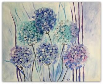 30 - 40 akrylmaleri solgt