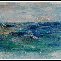 Ved havet, spartel maleri