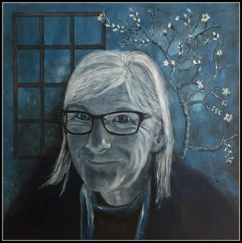 Kvinde akrylmaleri