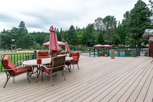 Guest Ranch deck and pool.
