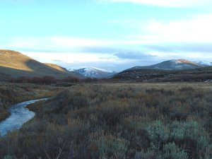 Historic Kunz Ranch property sits in meadowlands of Blizzard Buttes and Merritt Mountain.