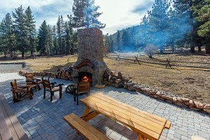 Patio on Tahoe ranch property.