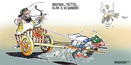 Sabir Nazar Cartoon -islam-in-danger-1