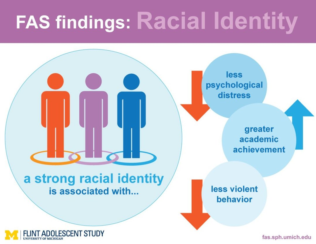 An image of the racial identity findings info graphic
