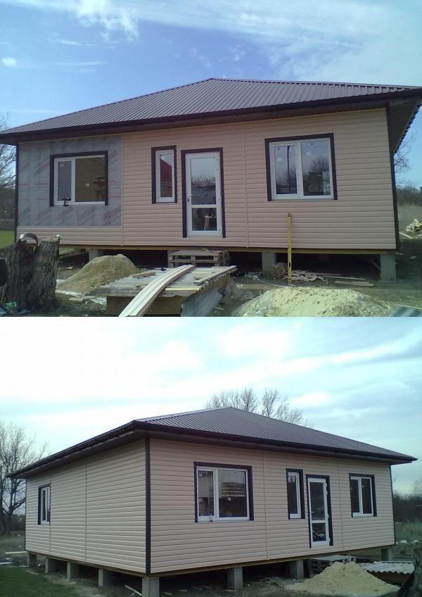 خانه قاب، پوشش داده شده OSB، گرم، با خارج از منظوره بیرونی