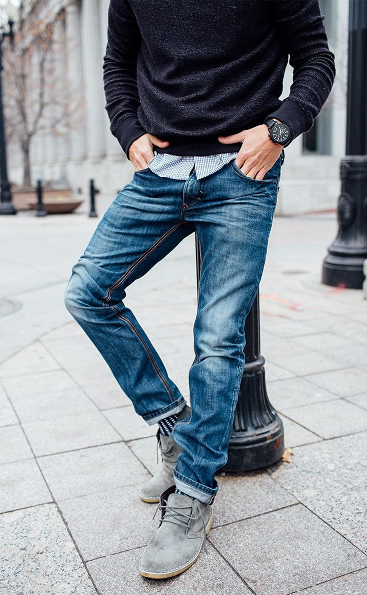 Inspiring wear shoes with jeans (2)