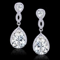 Earrings diamond wedding brides (102)