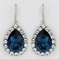 Earrings diamond wedding brides (104)