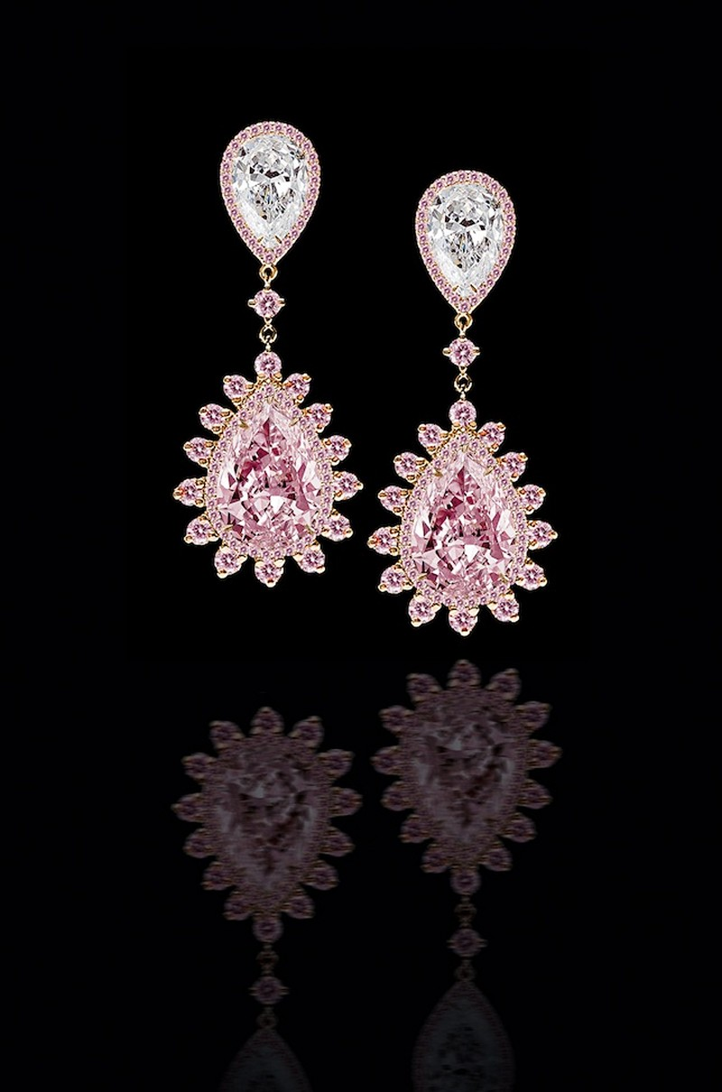 Earrings diamond wedding brides (117)