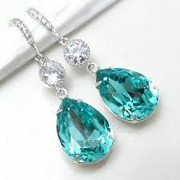 Earrings diamond wedding brides (118)