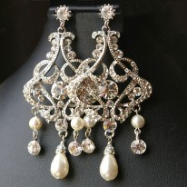Earrings diamond wedding brides (12)