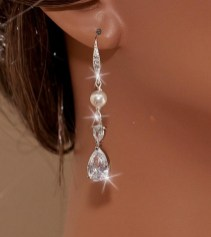 Earrings diamond wedding brides (130)