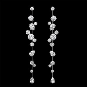 Earrings diamond wedding brides (136)