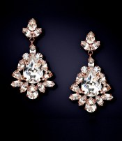 Earrings diamond wedding brides (141)