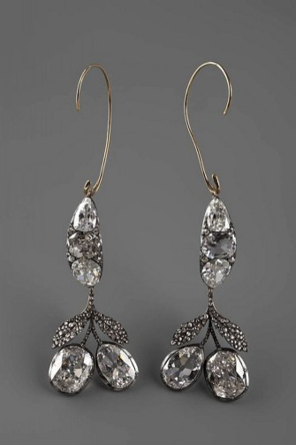 Earrings diamond wedding brides (146)