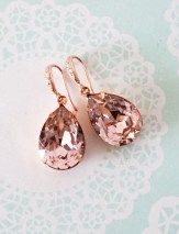Earrings diamond wedding brides (152)