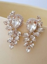 Earrings diamond wedding brides (154)