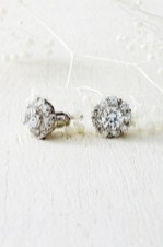 Earrings diamond wedding brides (167)