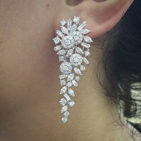 Earrings diamond wedding brides (17)