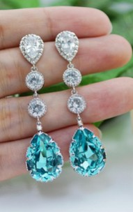 Earrings diamond wedding brides (26)