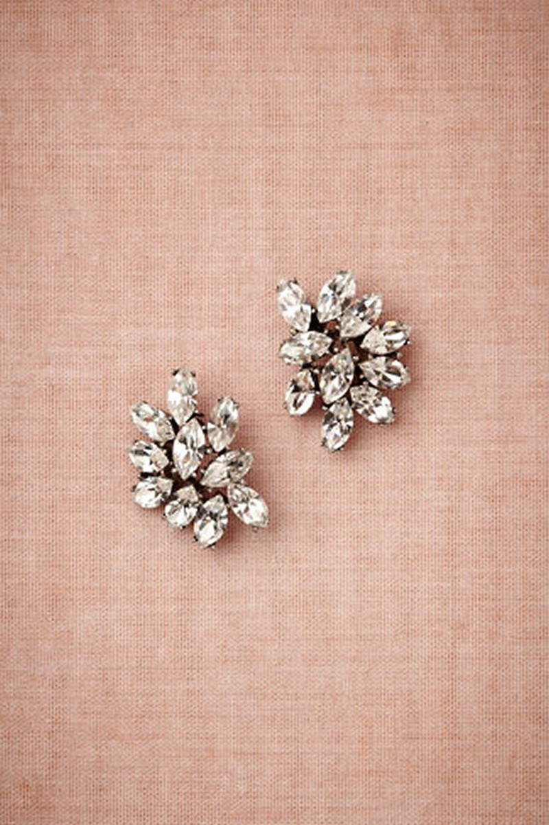 Earrings diamond wedding brides (29)