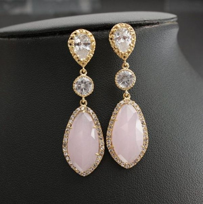 Earrings diamond wedding brides (38)