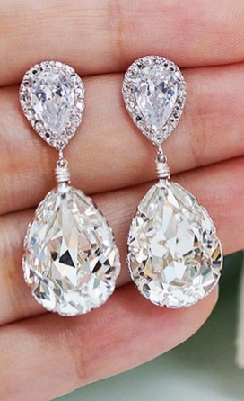 Earrings diamond wedding brides (42)
