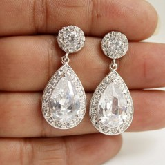 Earrings diamond wedding brides (46)