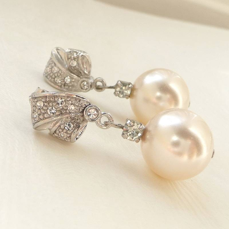 Earrings diamond wedding brides (57)