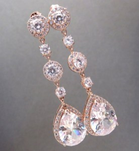 Earrings diamond wedding brides (59)