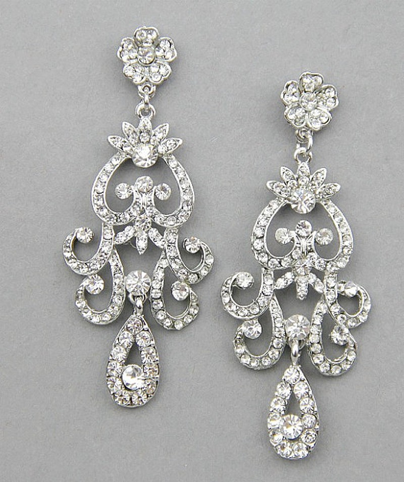 Earrings diamond wedding brides (66)