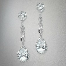 Earrings diamond wedding brides (77)
