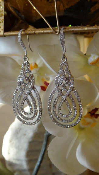 Earrings diamond wedding brides (79)