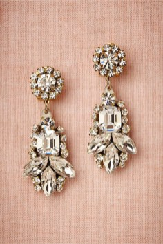 Earrings diamond wedding brides (94)