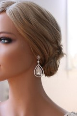 Earrings diamond wedding brides (97)