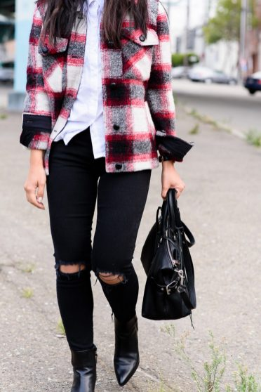 Ways to wear flanel for women (12)