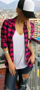 Ways to wear flanel for women (122)