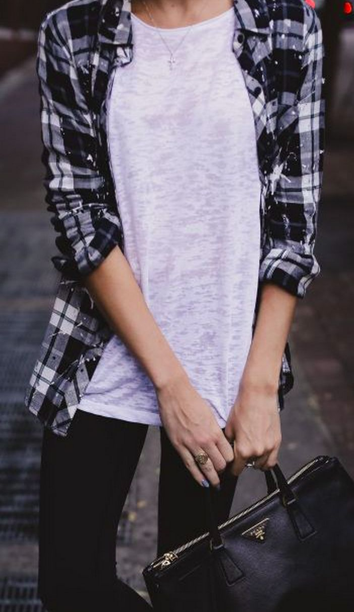 Ways to wear flanel for women (15)