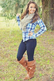 Ways to wear flanel for women (18)