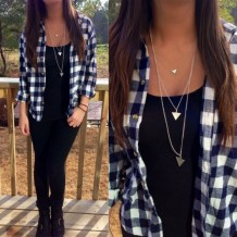 Ways to wear flanel for women (60)
