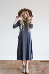 Awsome casual midi dress1