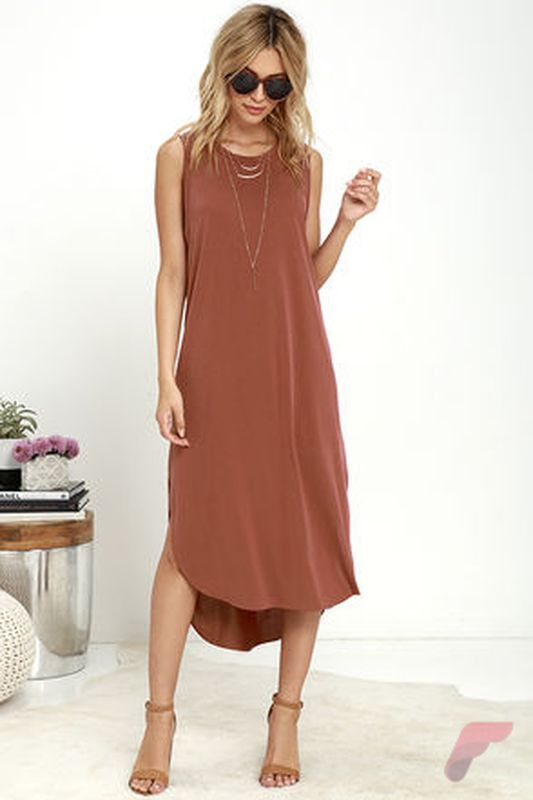 Awsome casual midi dress178