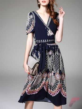 Awsome casual midi dress20