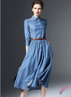 Awsome casual midi dress203