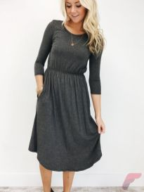 Awsome casual midi dress44