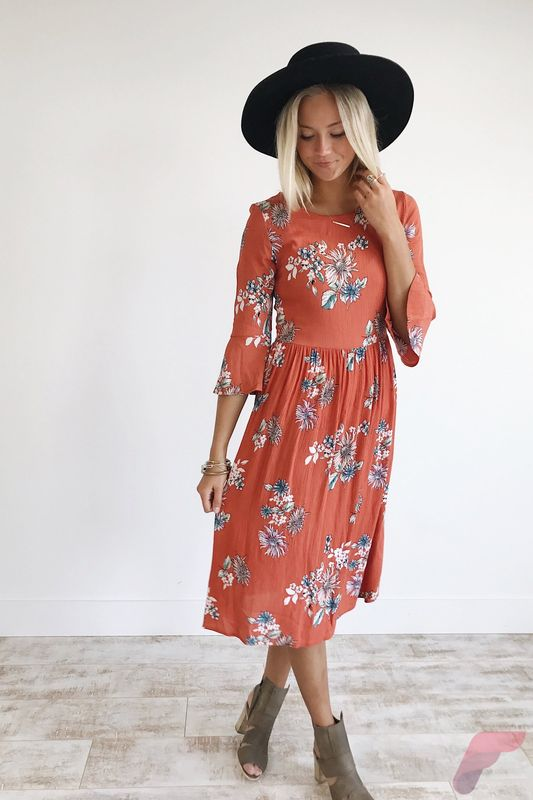 Awsome casual midi dress78