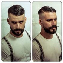 Best men short beard and mustache style 32