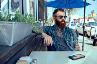 Best men short beard and mustache style 35