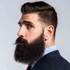 Best men short beard and mustache style 42