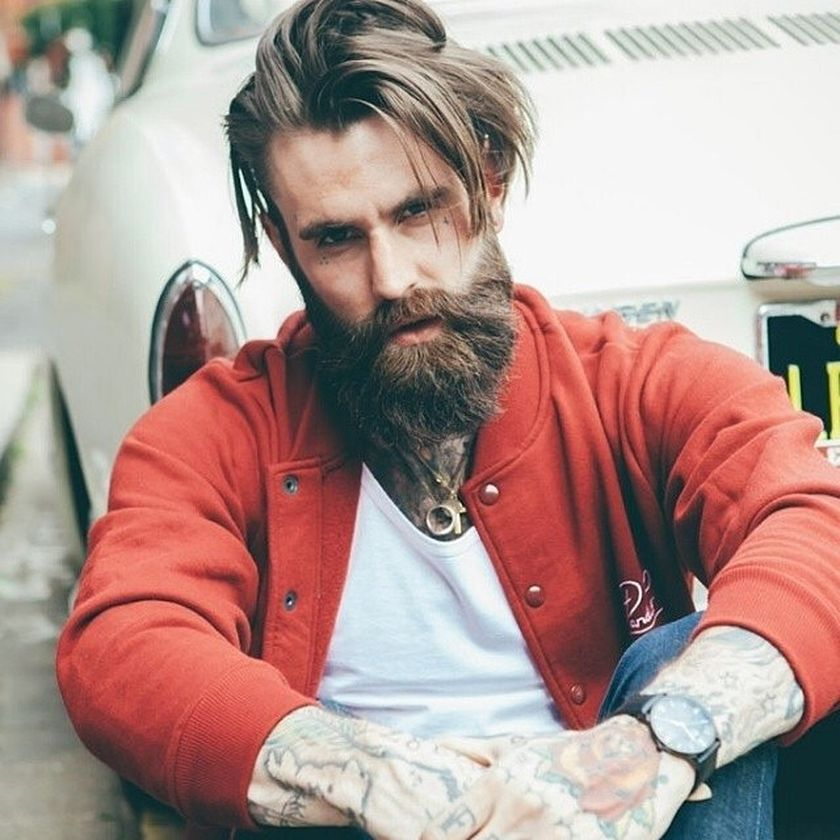 Best men short beard and mustache style 47